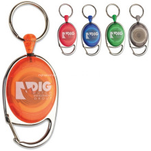 Custom personalized badge reels keychain from 300pcs